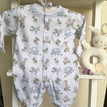 Sunny Safari Printed Sleepsuit by Kissy Kissy