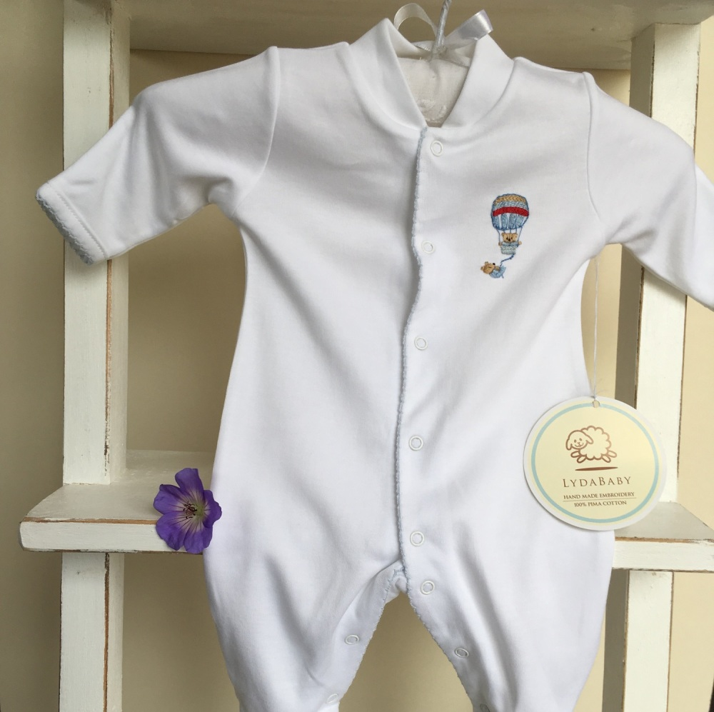 Hot Air Balloon Pima Cotton Sleepsuit by LydaBaby