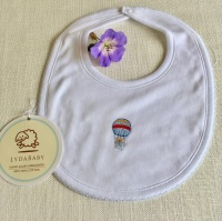 LydaBaby Pima Cotton Bib in Hot Air Balloon Design