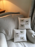 Butterfly Applique Cushions