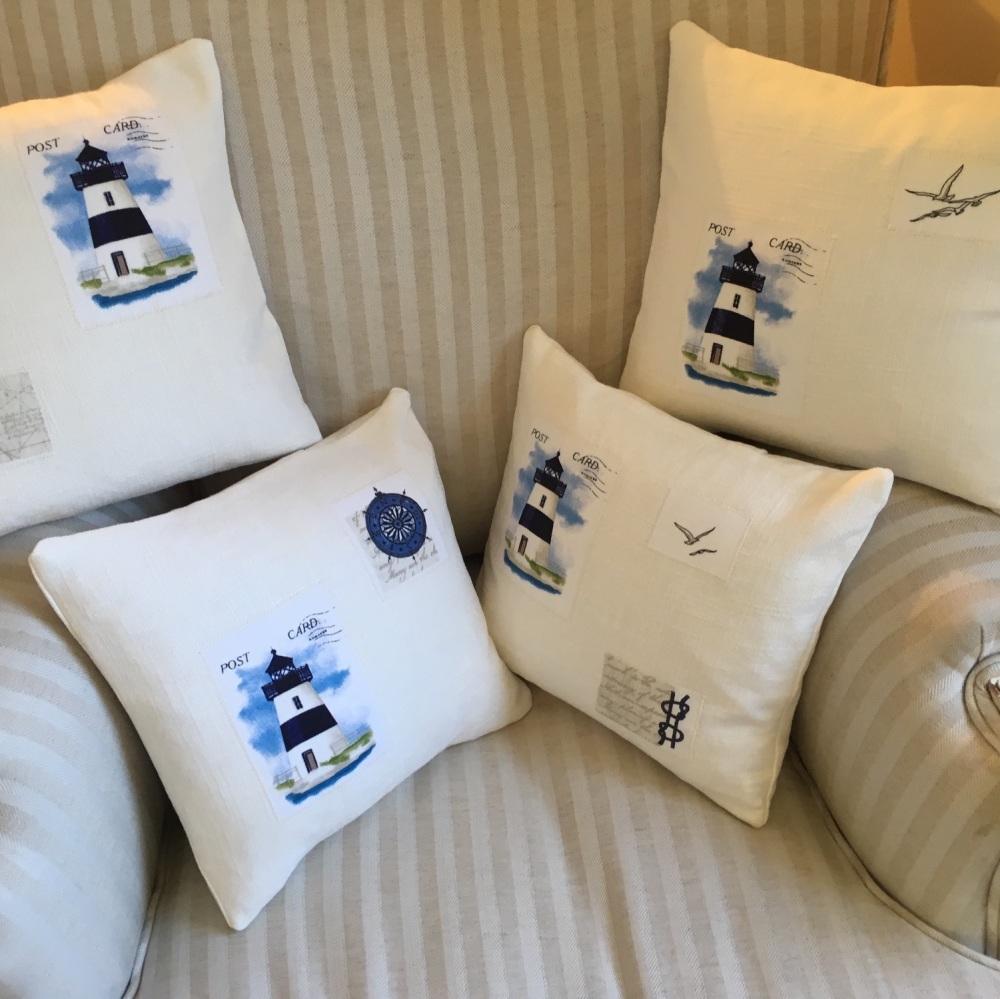 Lighthouse Applique Cushions