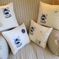 Handmade Lighthouse Applique Cushions