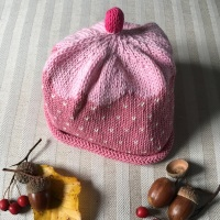 Merry Berries Cotton Knitted Hat - Cupcake