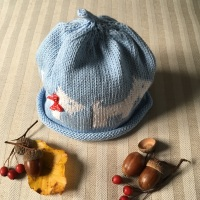 Merry Berries Cotton Knitted Hat - Scotty Dog