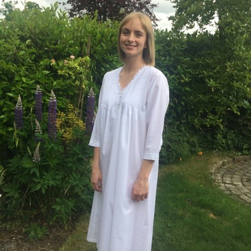 Valencia Cotton Nightdress with 3/4 Length Sleeves
