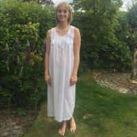 Sleeveless Cotton Nightdress - Naomi