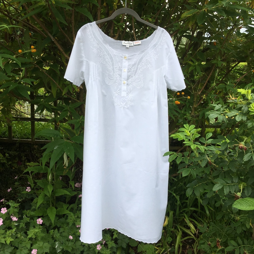 Short Sleeved Cotton Nightdress - Eden