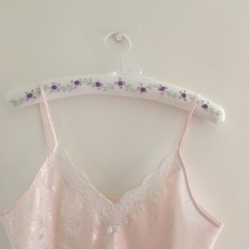Padded Coathangers - Mauve Rose