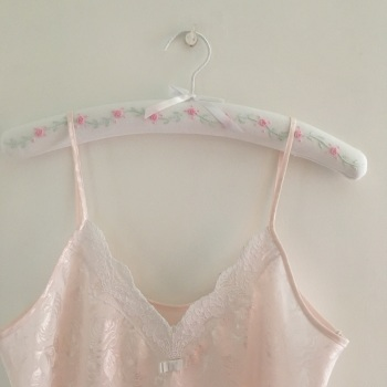 Padded Coathangers - Pink Rose