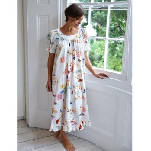 Short-Sleeved Cotton Nightdress - Nettie