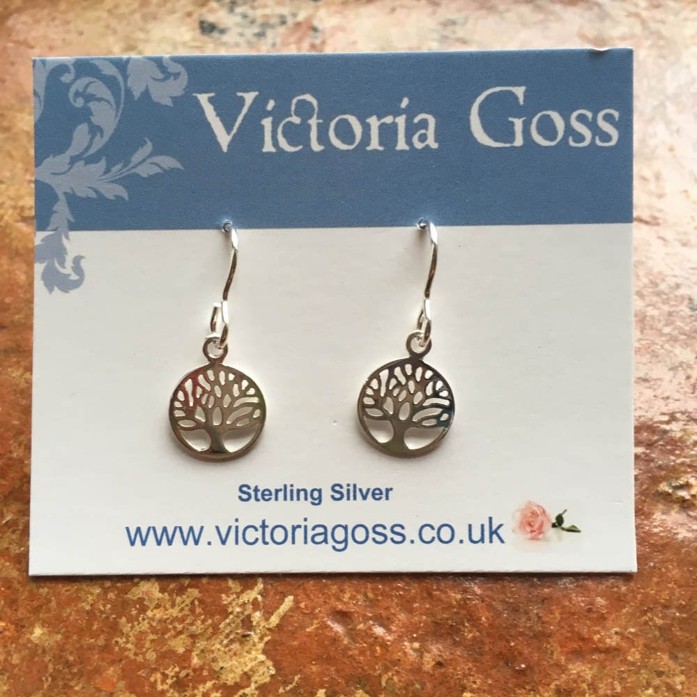 Silver 'Tree of Life' Pendant earrings