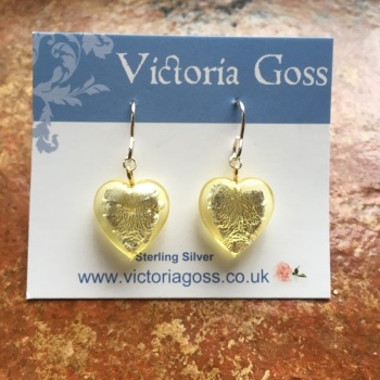 Heart of Gold Pendant Earrings