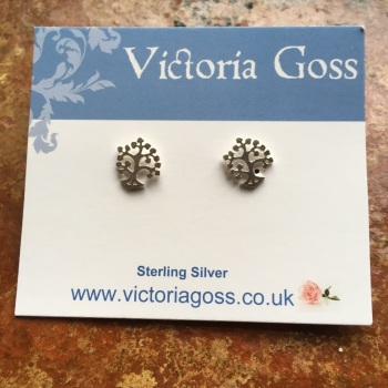 Silver Little Tree Stud Earrings