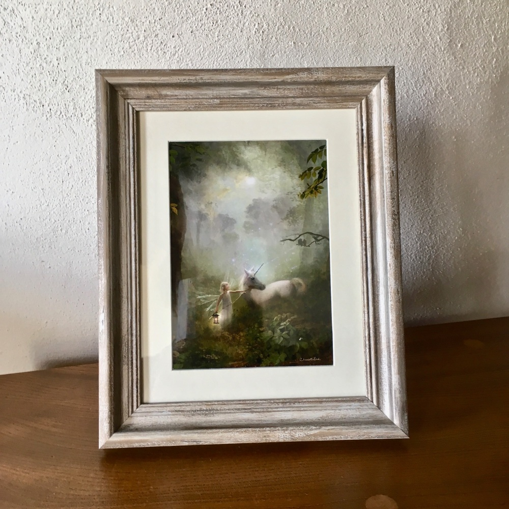 Framed Fairy Picture - The Journey Home - With Antiqued Frame