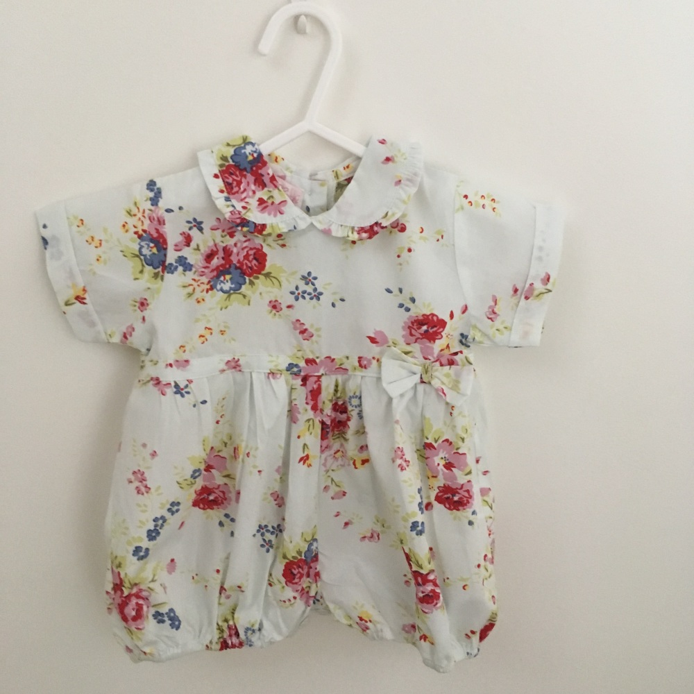 Baby Cotton Romper - Floral