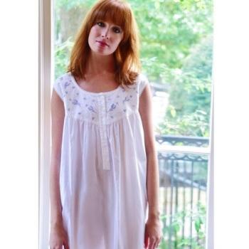 Sleeveless Cotton Nightdress - Cecily
