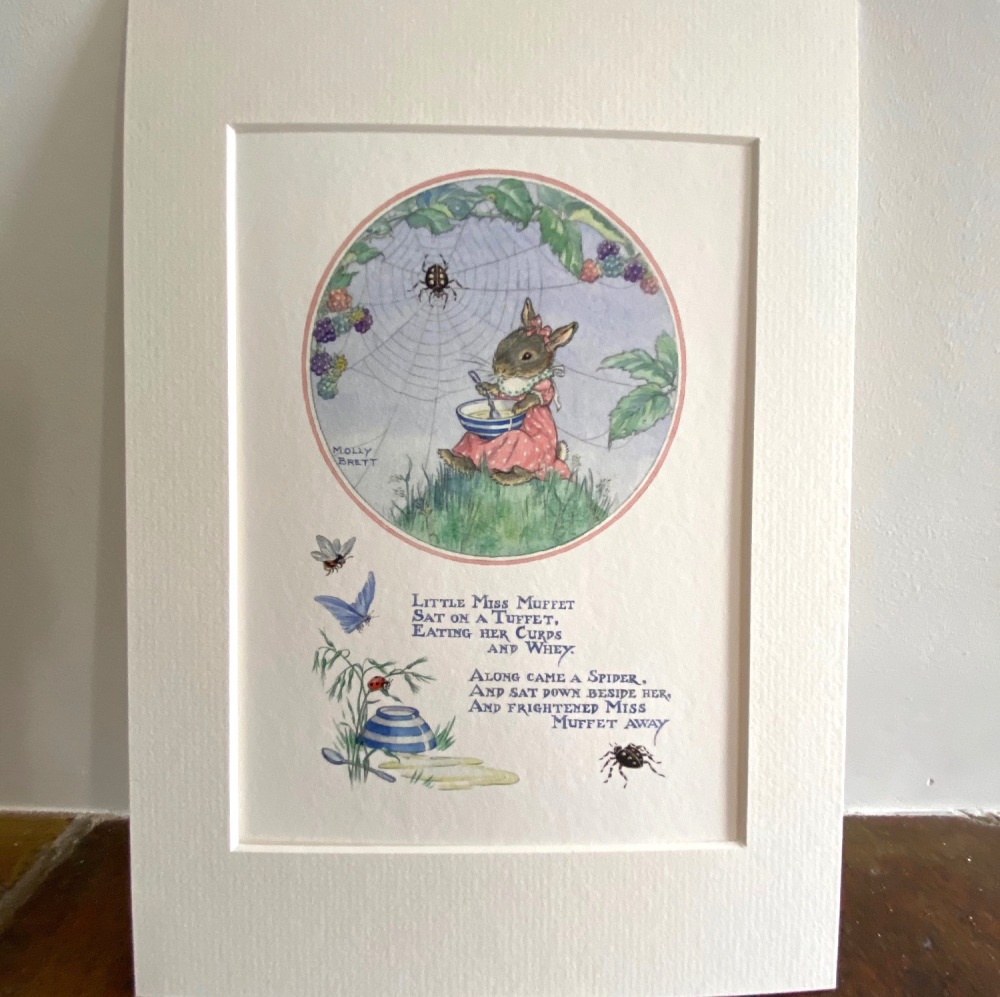 Mounted Print - Little Miss Muffet