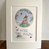 Mounted Print - Little Miss Muffet