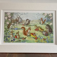 Mounted Print - Here We Go Gardening