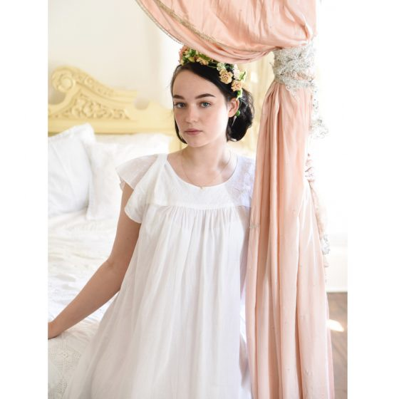 Short Sleeved Cotton Nightdress - Nadine