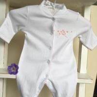 Rosebud Pima Cotton Sleepsuit by LydaBaby