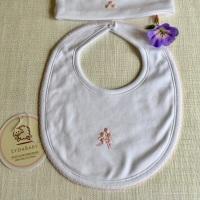 Rosebud Pima Cotton Baby Bib by LydaBaby