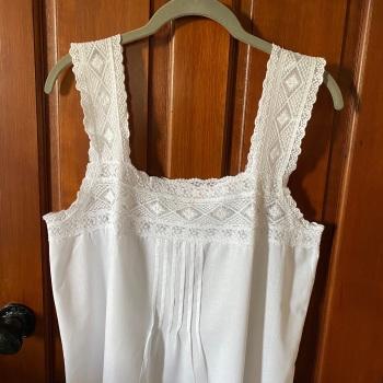 Sleeveless Cotton Nightdress - Lace Chemise