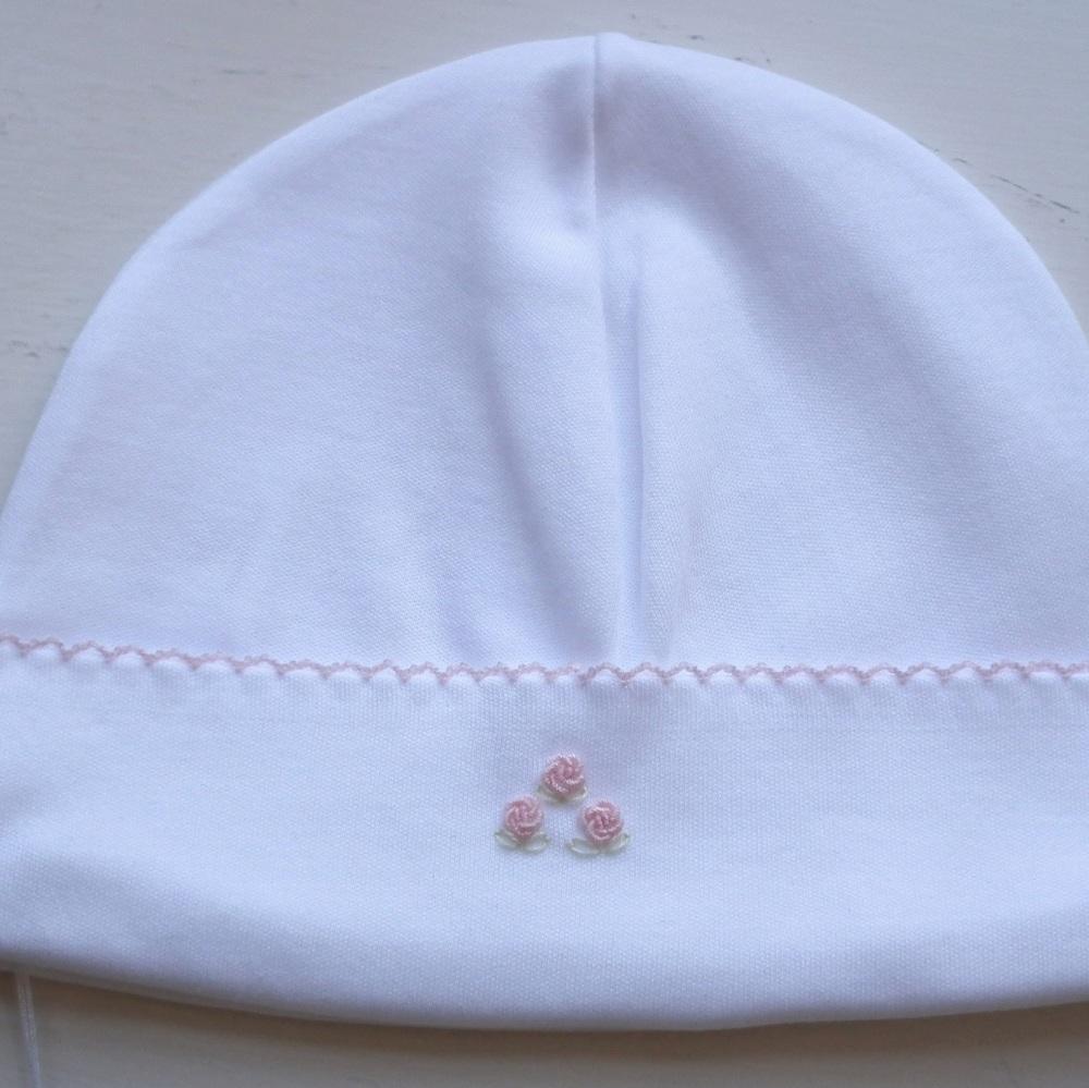 Rosebud Pima Cotton Baby Hat