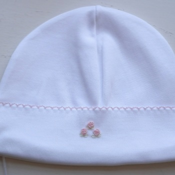 Rosebud Pima Cotton Baby Hat