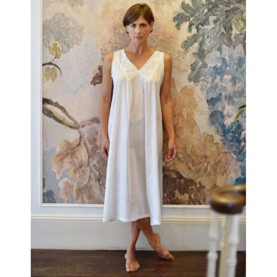 Sleeveless Cotton Nightdress - Jane