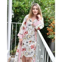 Cotton Dressing Gown - Rose