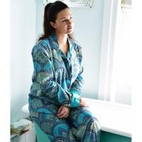 Cotton Pyjamas - Blue Paisley