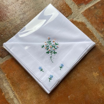Cotton Handkerchiefs - Forget Me Not
