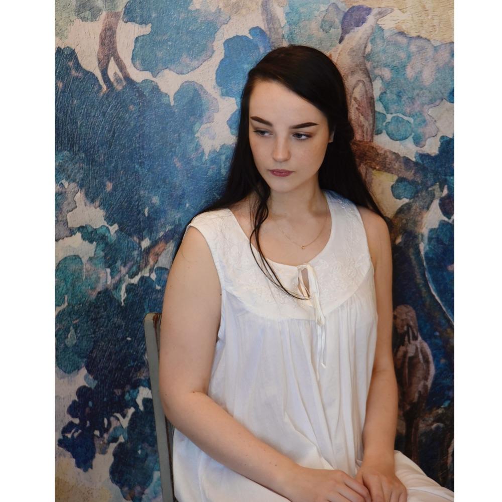Sleeveless Cotton Nightdress - Nora