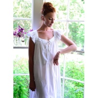 Short Sleeved Cotton Nightdress - Margo