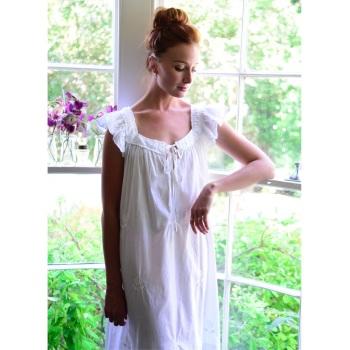 Short Sleeved Cotton Nightdress - Margo