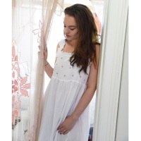 Sleeveless Cotton Nightdress - Ava
