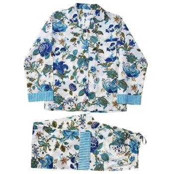Cotton Pyjamas - Blue Rose
