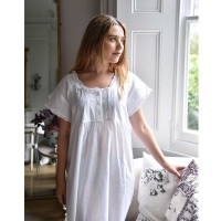 Short Sleeved Cotton Nightdress - Serena