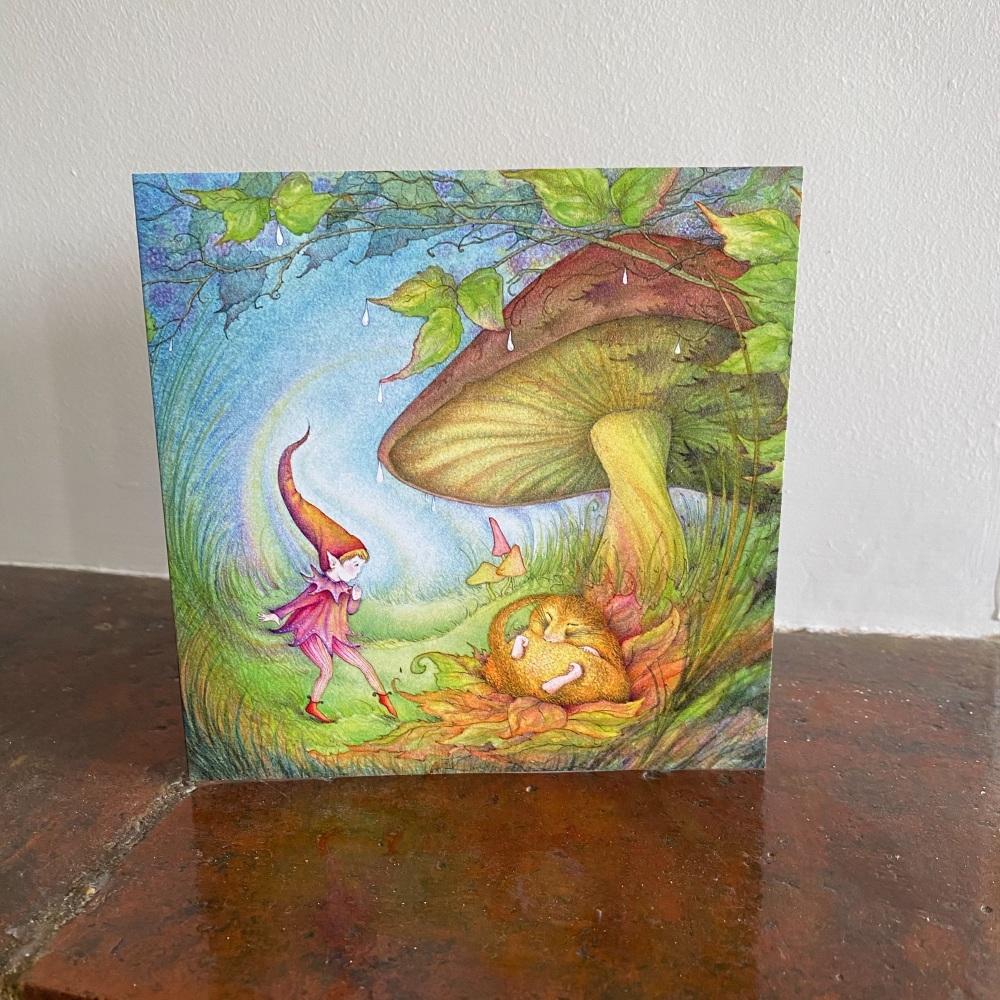 Birthday Card - The Elf & The Dormouse