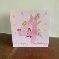 Birthday Card - Age 4 Girl