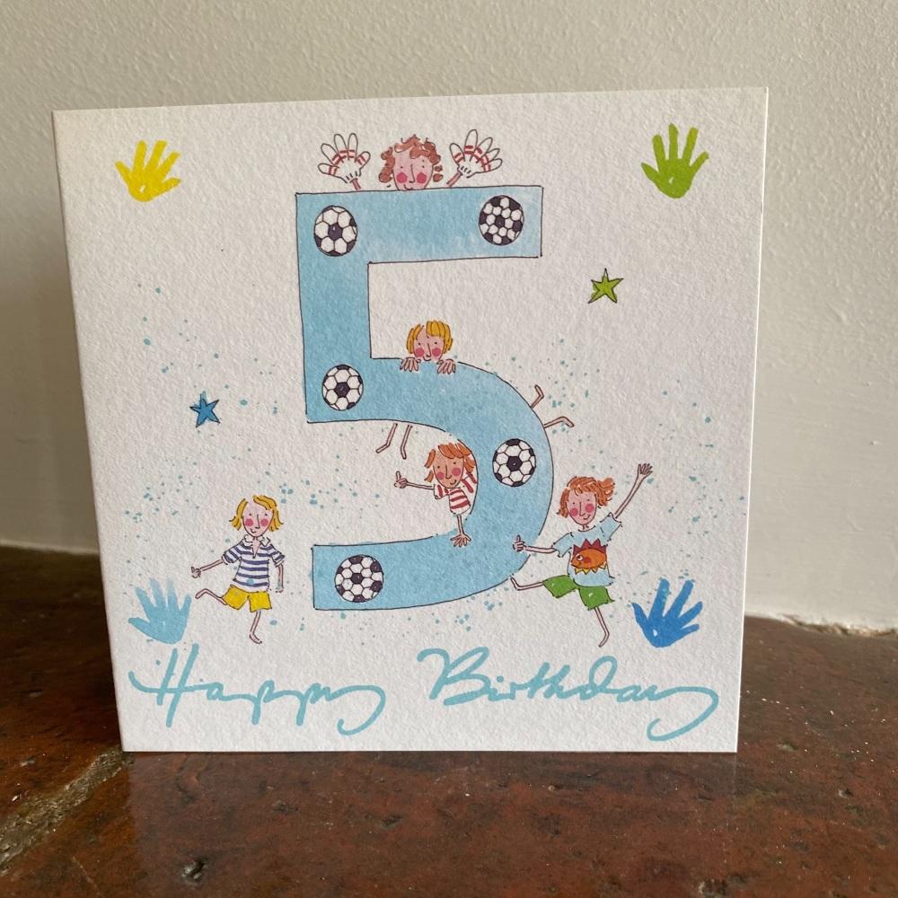 Birthday Card - Age 5 Boy