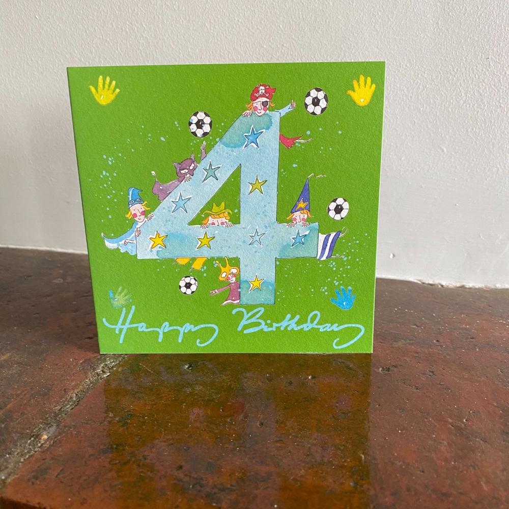 Birthday Card - Age 4 Boy