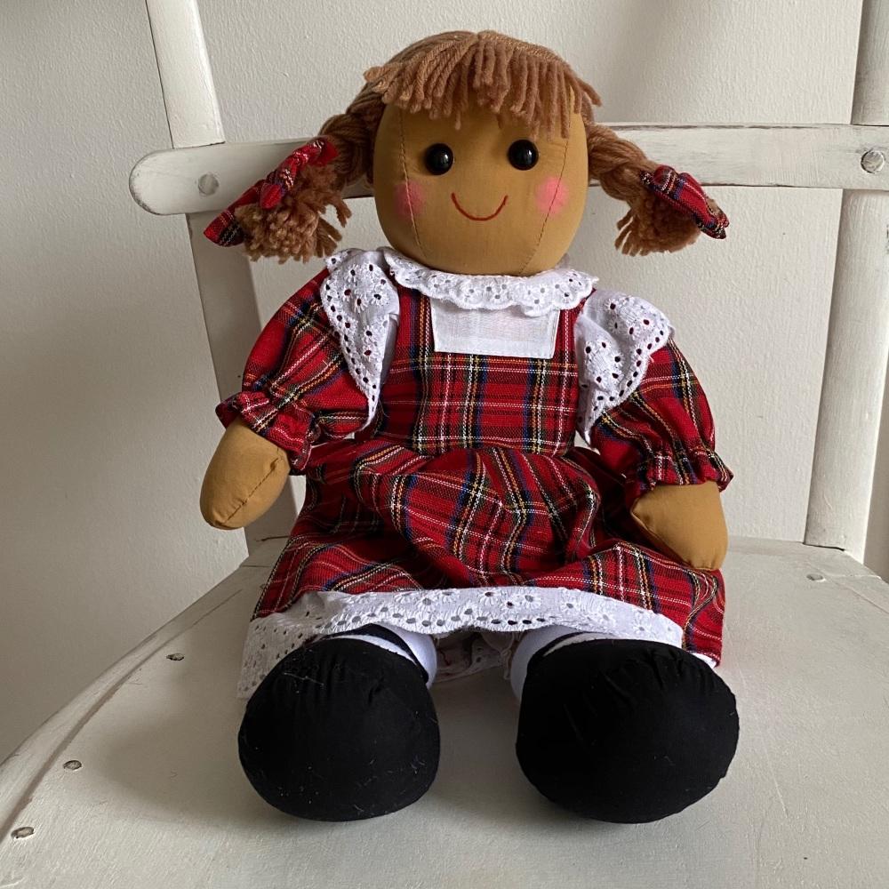 Tartan Rag Doll - Sitting View