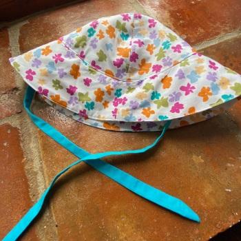Cotton Sun Bonnet - Multi Coloured