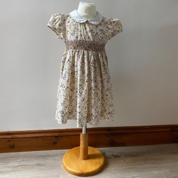 Girl's Dress - Yellow Floral