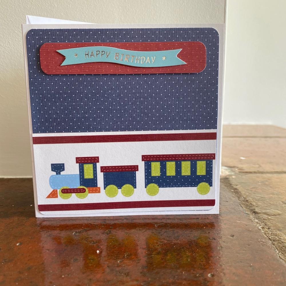 Handmade Card - Birthday Train