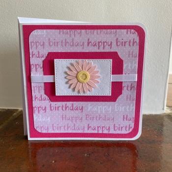 Handmade Card - Birthday Daisy