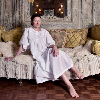 Long Sleeved Cotton  Nightdress - Serenity