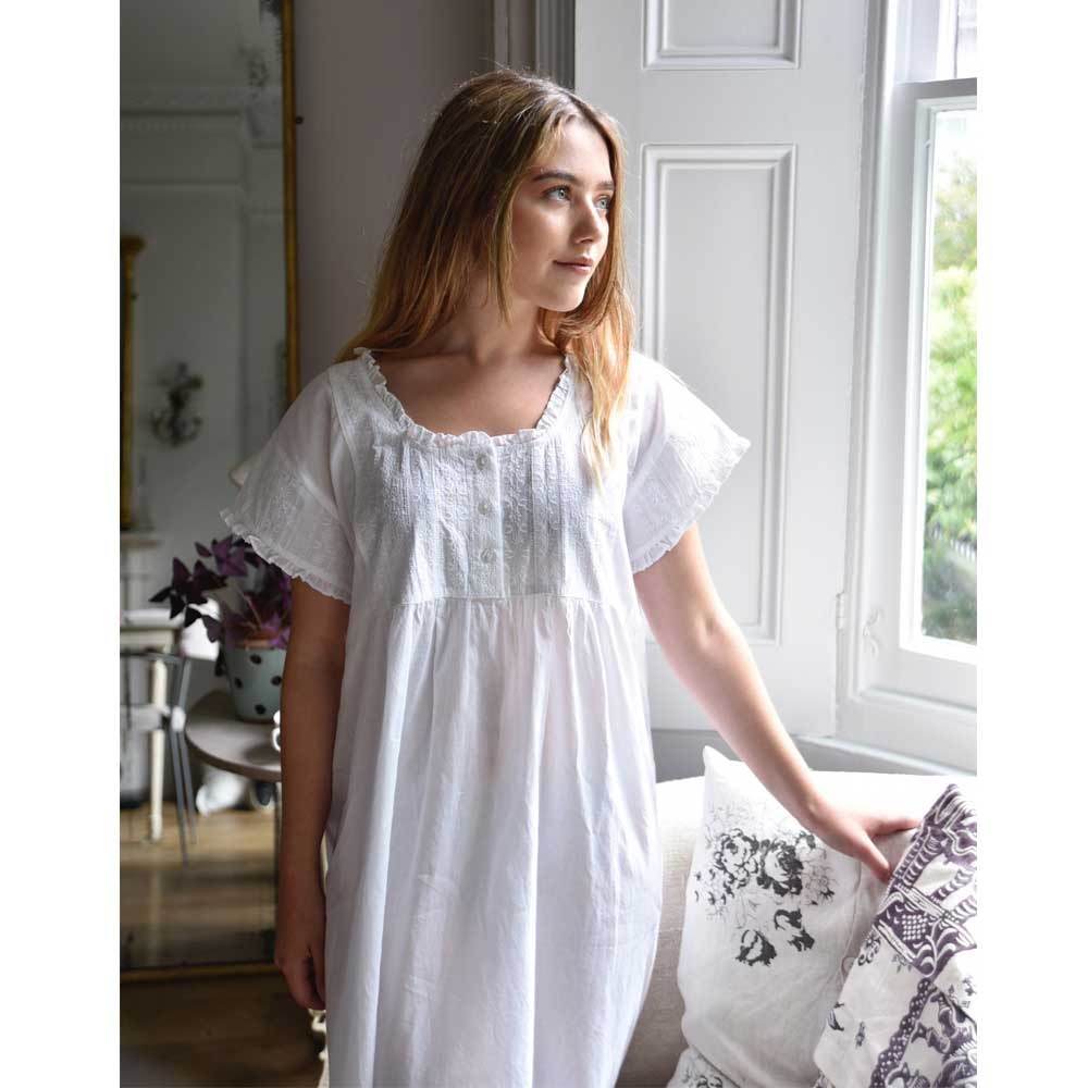 Blue Paisley Cotton Dressing Gown